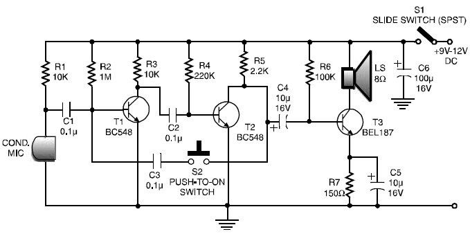 Remarkable Simple Walkie Talkie Circuit Diagram Pdf Elektronika Ekkor 2019 Wiring Cloud Licukshollocom