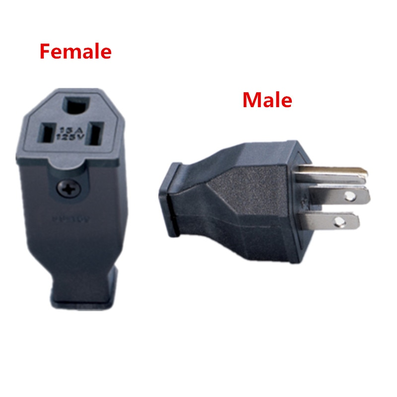 Awesome Us Ac Power Industrial Plug 15A 125V Male And Female Removable Wiring Cloud Licukshollocom