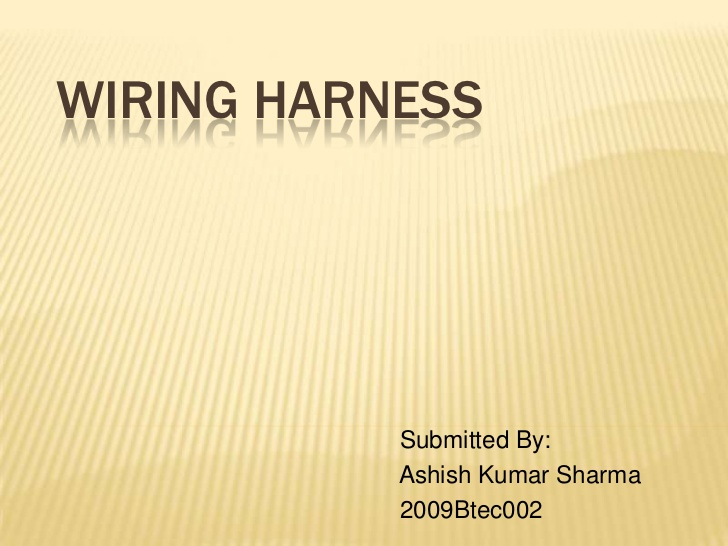Wondrous Wiring Harness Wiring Cloud Rdonaheevemohammedshrineorg