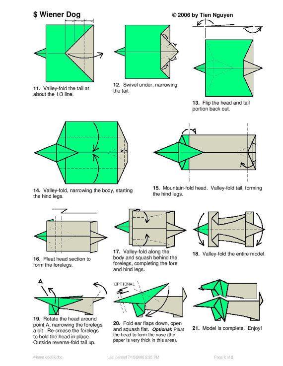 28 Best ORIGAMI DOG images | Origami, Origami art, Origami animals | 738x570