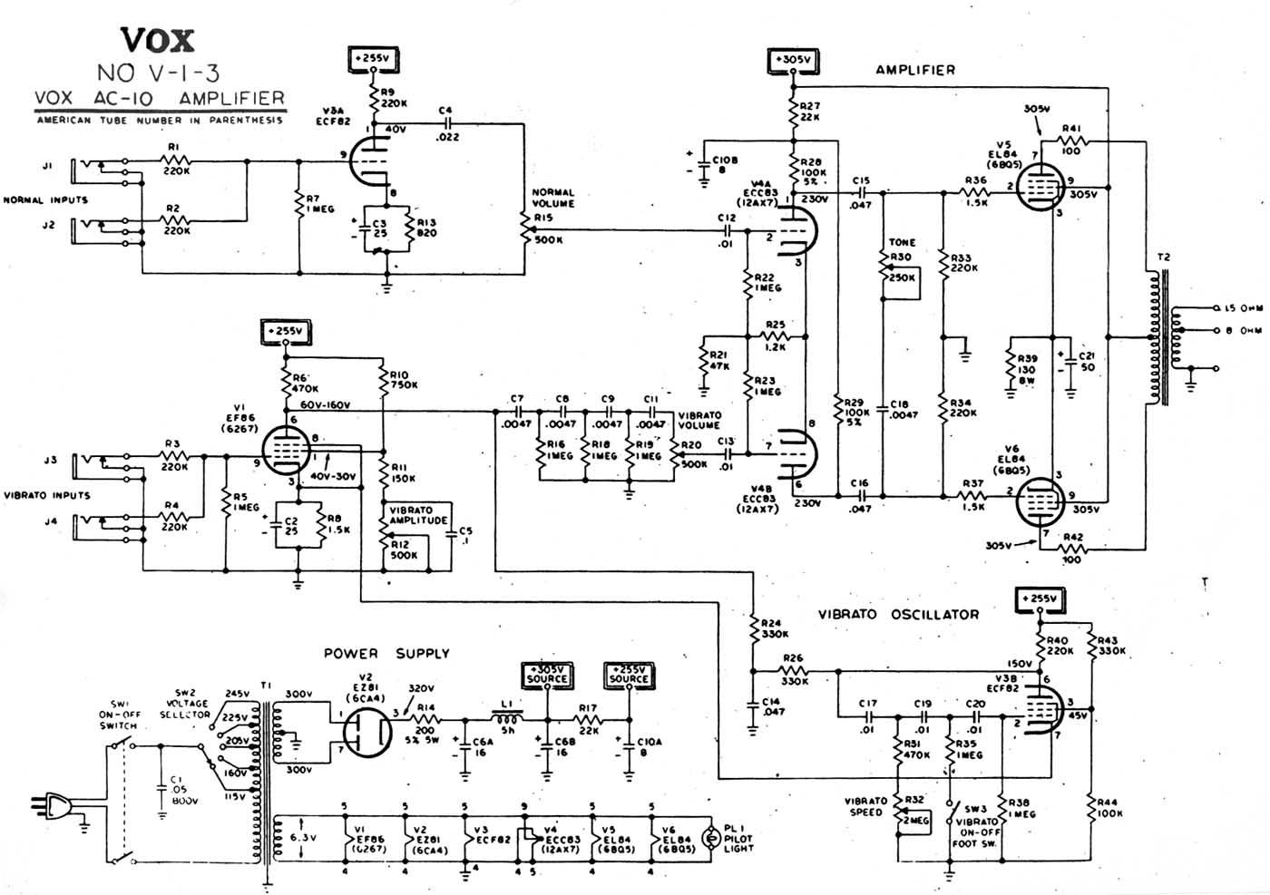 Wondrous Vox Vintage Circuit Diagrams Wiring Cloud Onicaalyptbenolwigegmohammedshrineorg