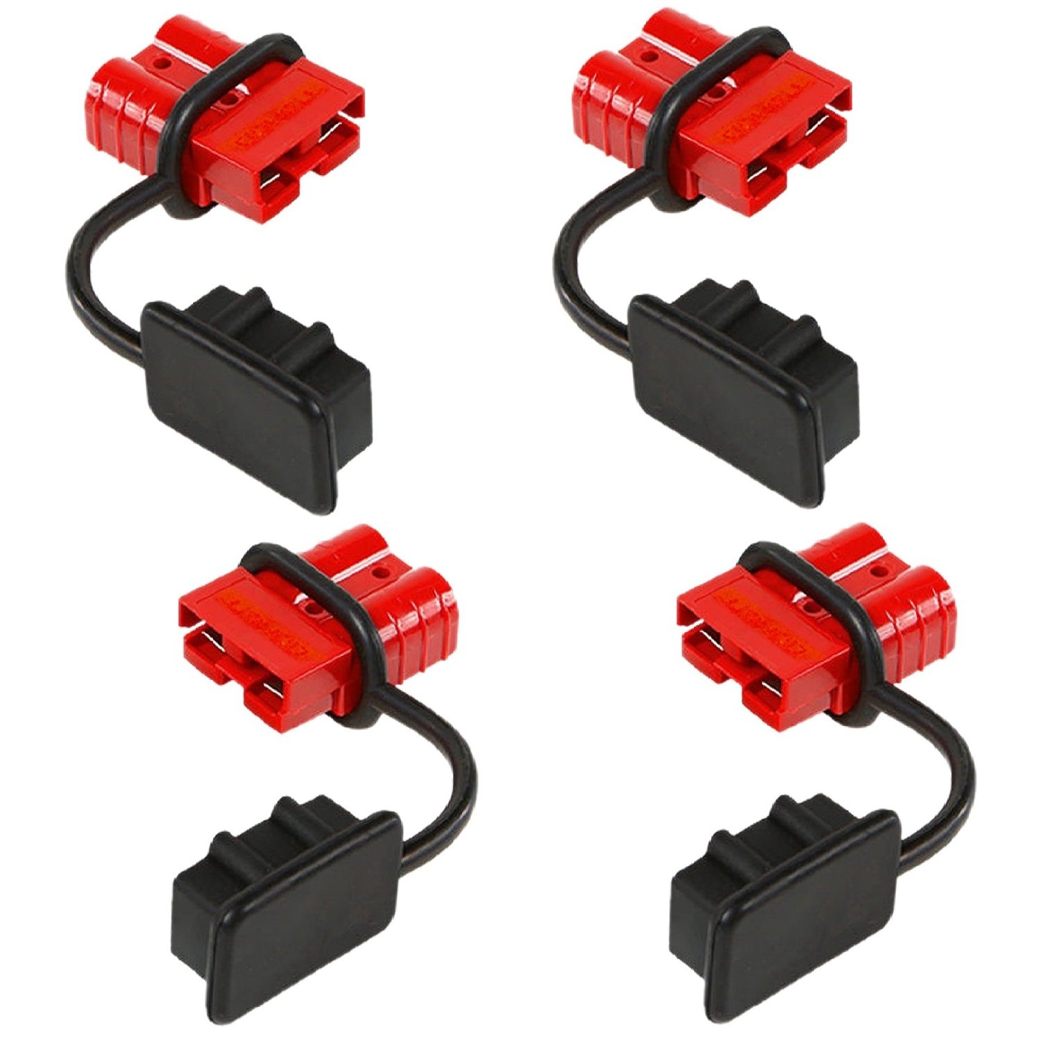 Excellent Orionmotortech 4 Pcs 6 8 Gauge Battery Quick Connect Disconnect Wire Harness Plug Kit For Recovery Winch Or Trailer 12 36V Dc 50A 4 Pcs Wiring Cloud Overrenstrafr09Org