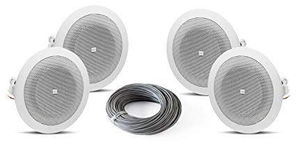 Stupendous Amazon Com Jbl 8124 4 Inch 70 Volt In Ceiling Speaker Bundle With Wiring Cloud Eachirenstrafr09Org