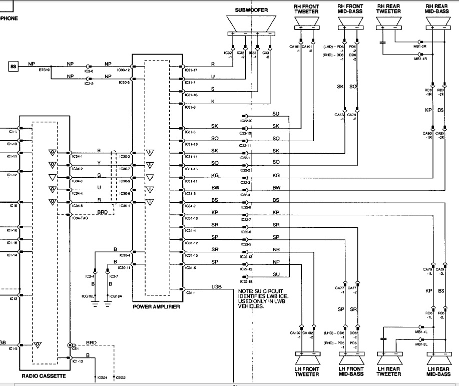 Phenomenal Jaguar Speakers Wiring Diagram Wiring Diagram Wiring Cloud Licukshollocom