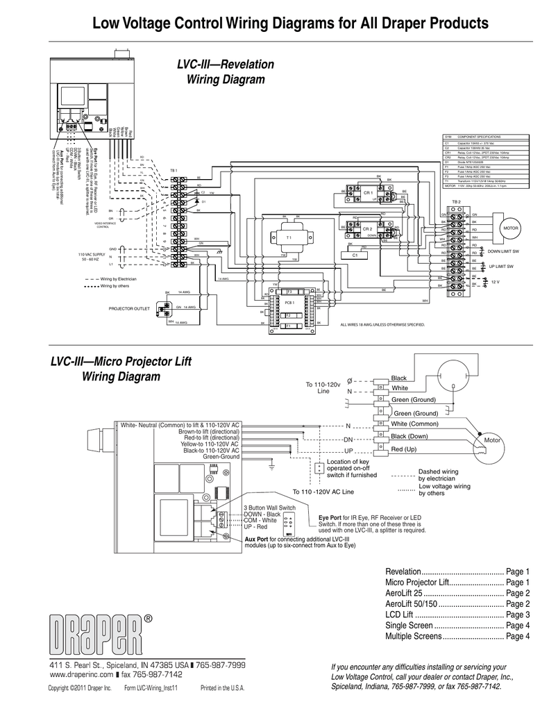 Incredible Low Voltage Control Wiring Diagrams For All Draper Products Wiring Cloud Onicaalyptbenolwigegmohammedshrineorg