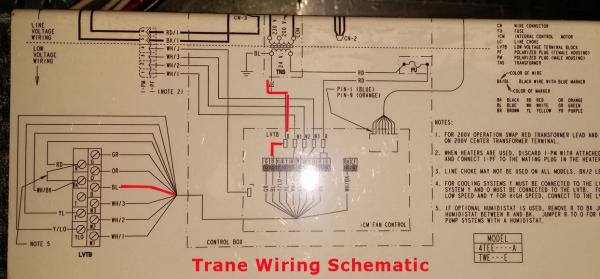 trane hvac wiring diagrams for hooking up a uv light to
