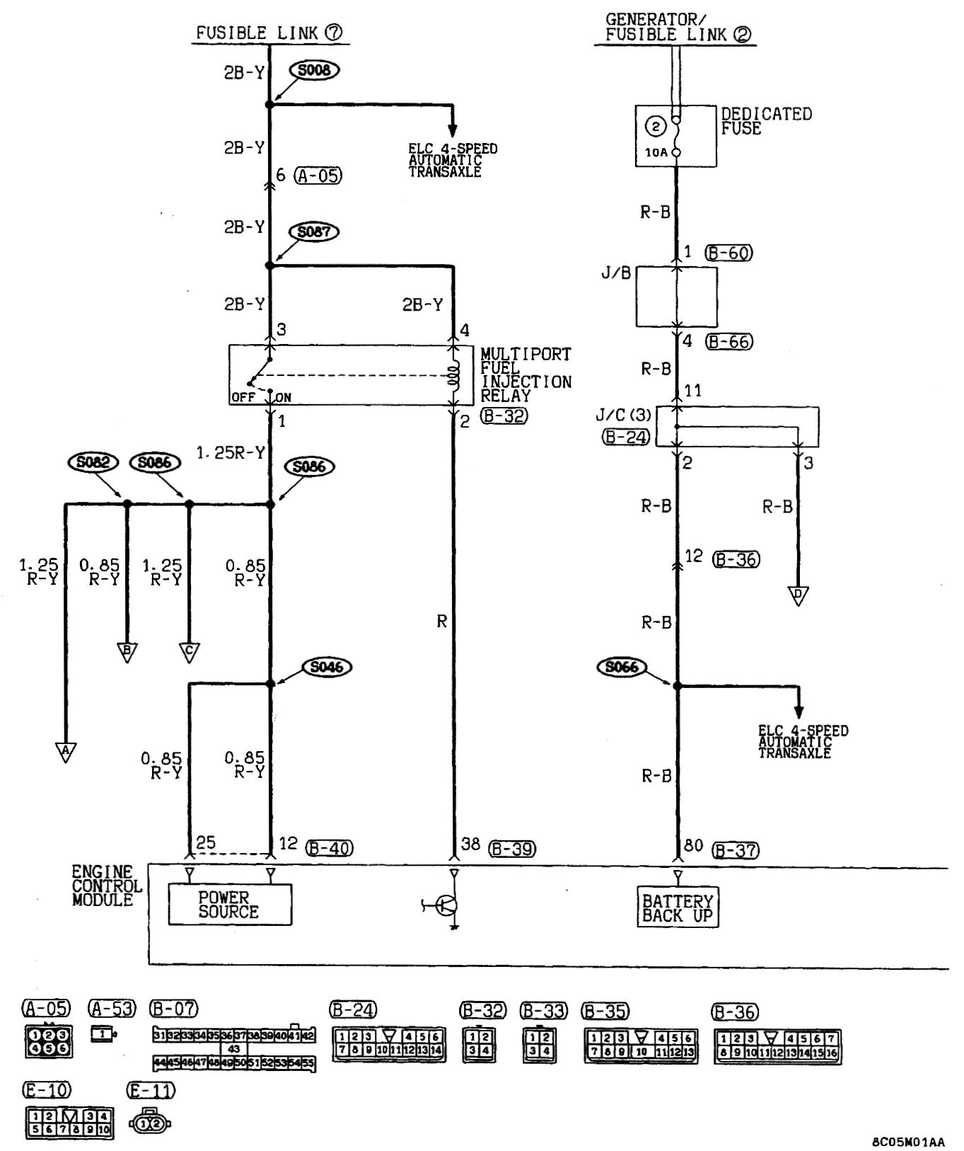 VX_1139] 93 Mitsubishi Mirage Fuse Diagram