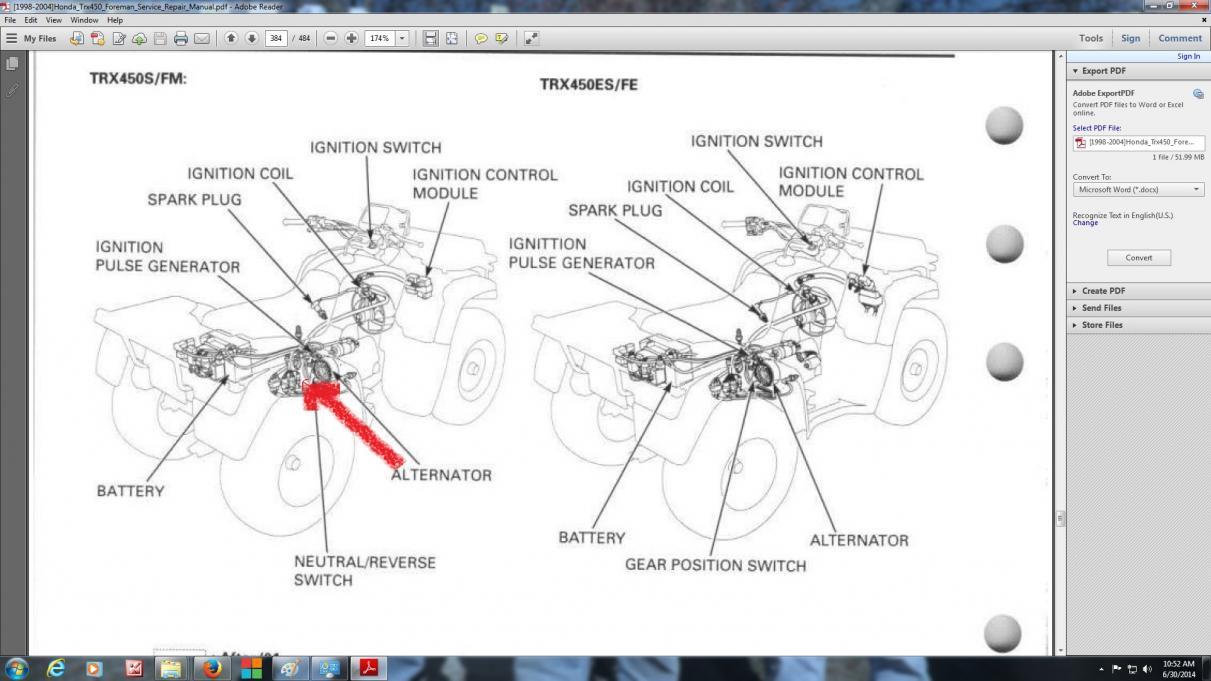 CT_6180] Honda Trx 350 Wiring Diagram Also Honda Foreman 450 Es Wiring  Diagram Schematic WiringCette Kesian Illuminateatx Librar Wiring 101