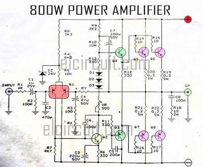sl1150 800watt subwoofer amplifier circuit diagram free