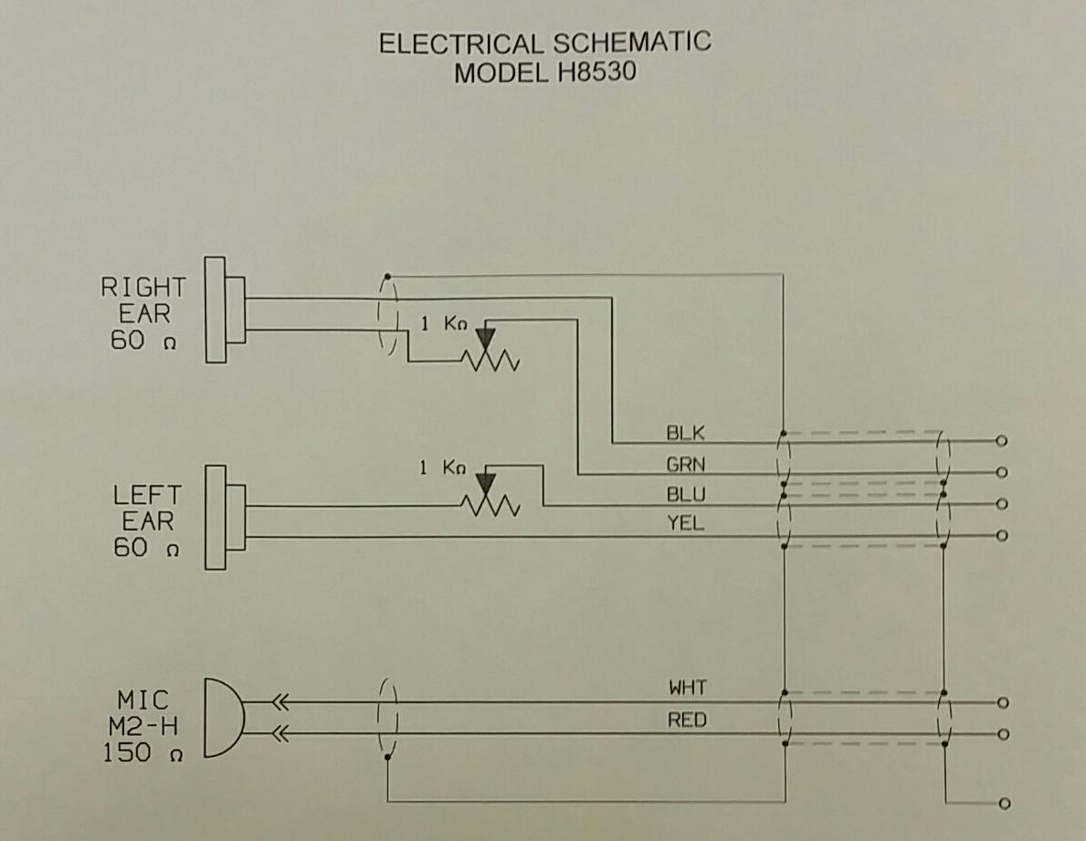 David Clark Aviation Headset Wiring Diagram