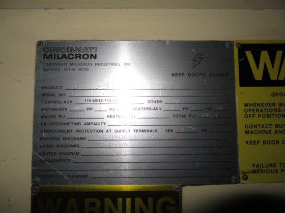 Admirable 1987 Cincinnati Milacron Vista 300 29 In Gibsonville Nc Usa Wiring Cloud Monangrecoveryedborg