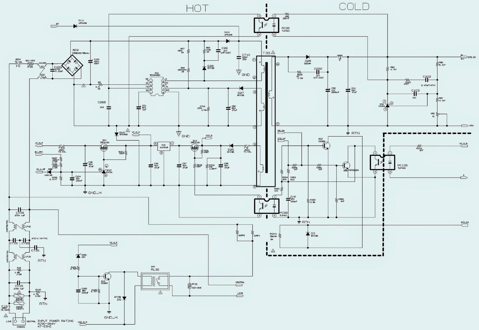 Remarkable Electro Help 32 Inch Philips Lcd Tv Power Supply Smps Schematic Wiring Cloud Hemtegremohammedshrineorg