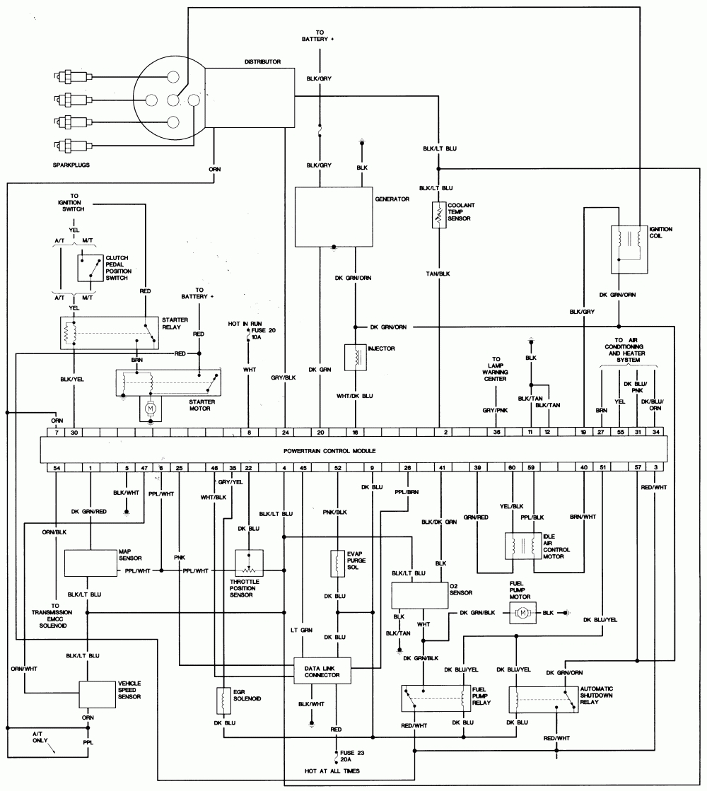 1998 Plymouth Voyager Wiring Diagram