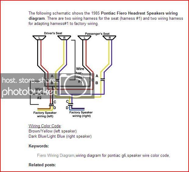 Xt 8950 Fiero Headrest Speakers Wiring Diagram Car Pictures Wiring Diagram