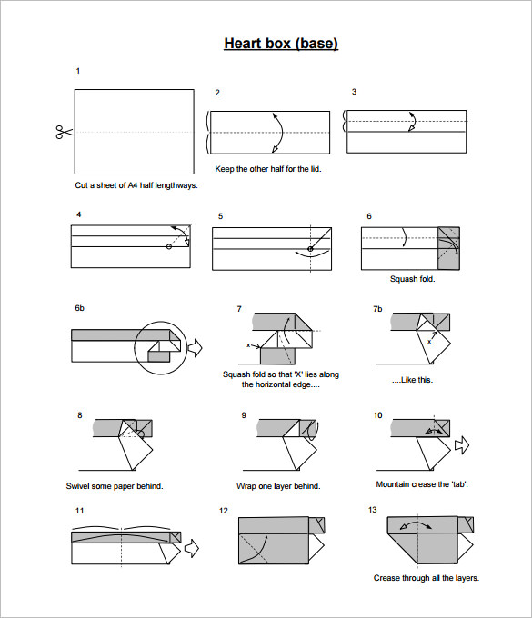Origami: Heart Box & Envelope 2.0 - Instructions in English (BR ... | 680x585