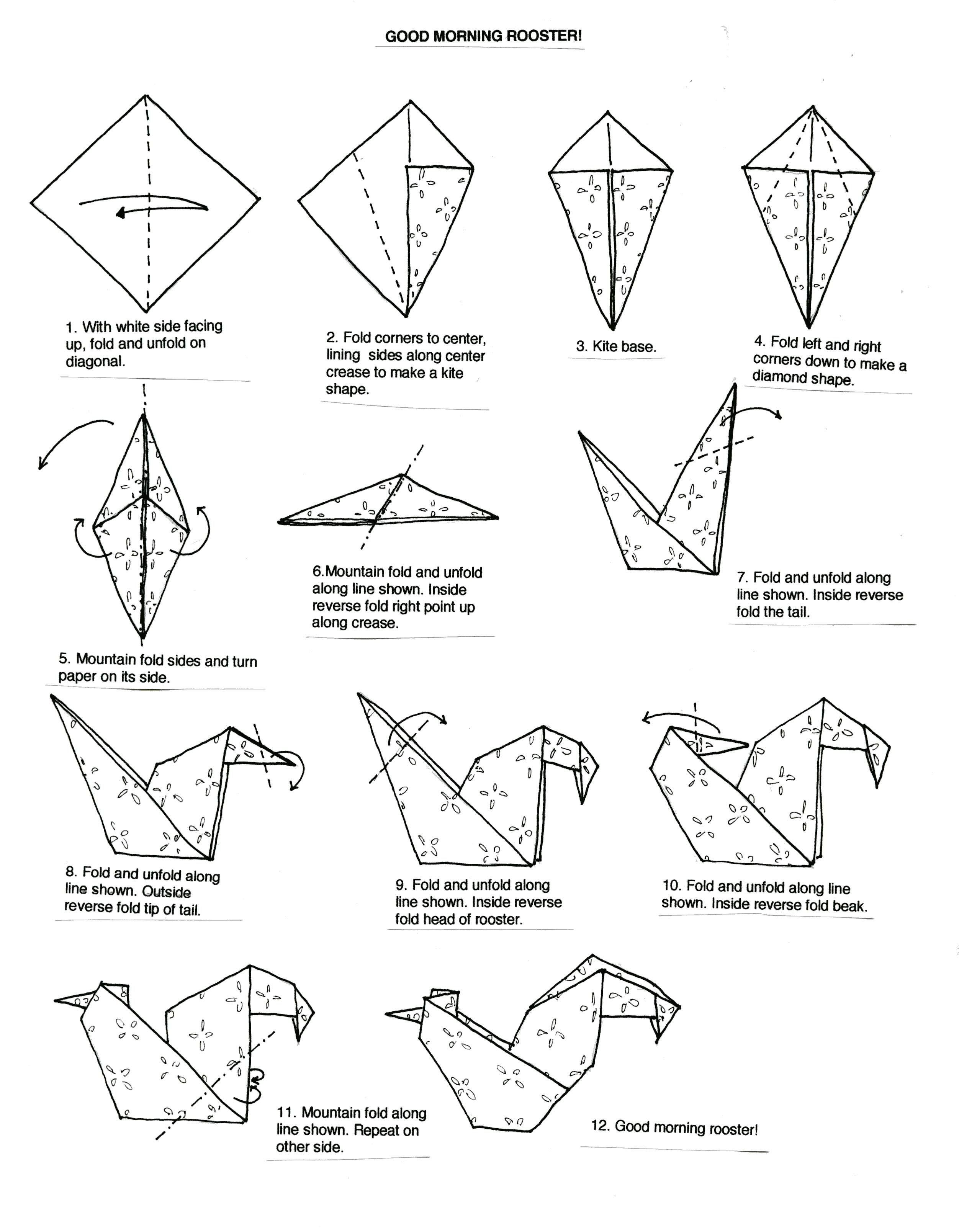 Origami Shark Instructions   How To Make A Origami Shark Easy ...   3218x2504