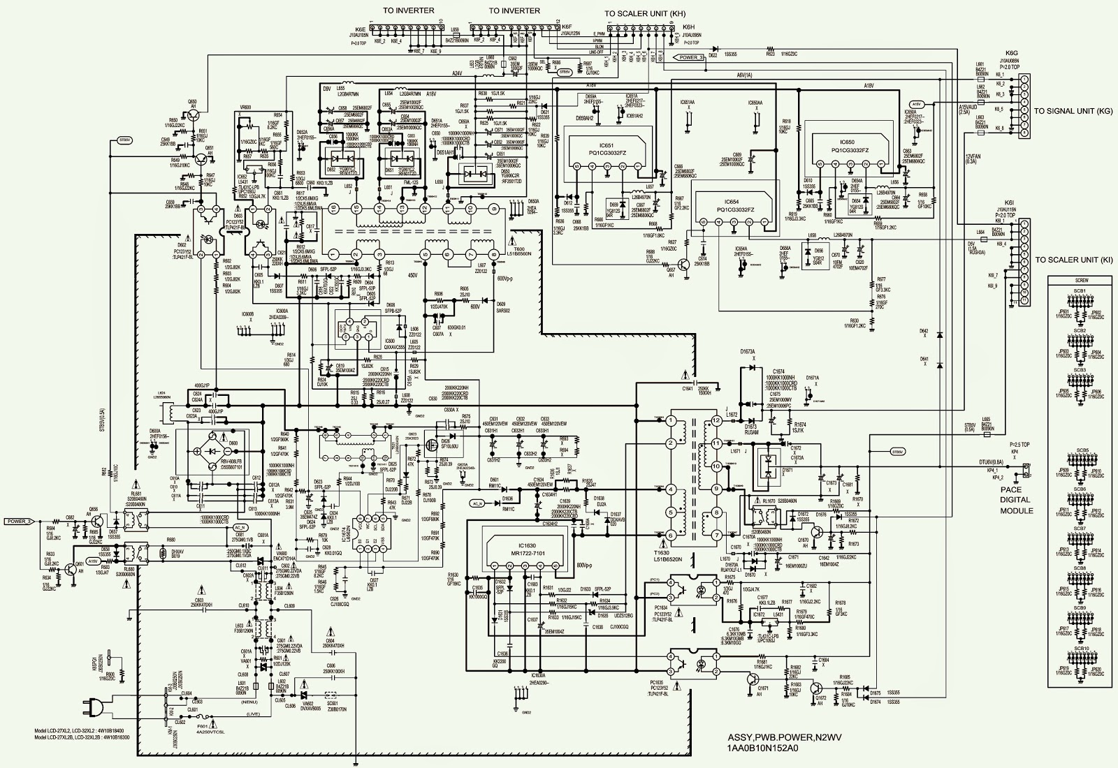 Tz 0562  Tv Sanyo Power Supply Smps Schematic Circuit