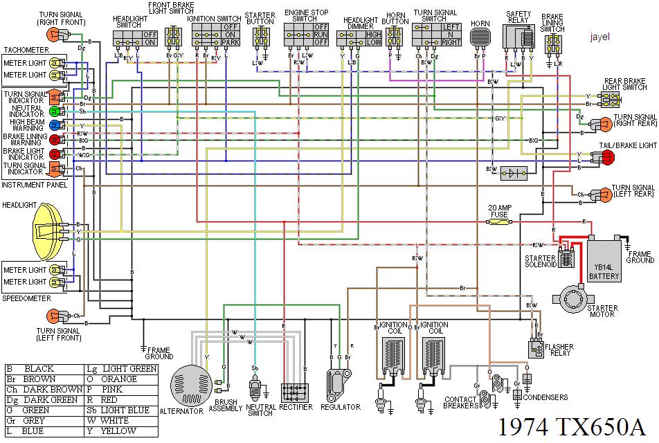 Fine Yamaha 650 Maxim Wiring Diagram Further Yamaha Xs650 Wiring Diagram Wiring Cloud Ostrrenstrafr09Org