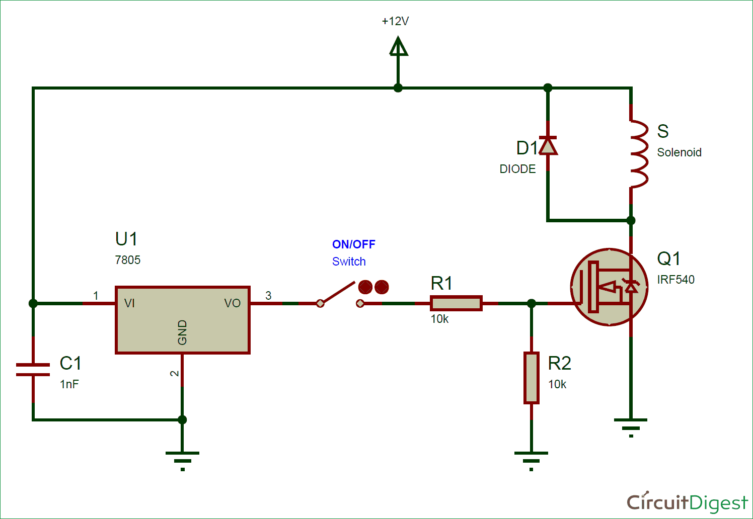 Zo 6133  Arduino Solenoid Valve Driver Circuit Download Diagram