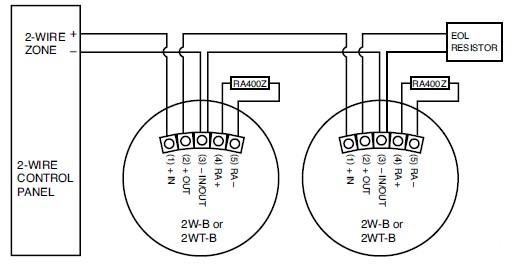 4 wire smoke detector wiring diagram detectors even  1960