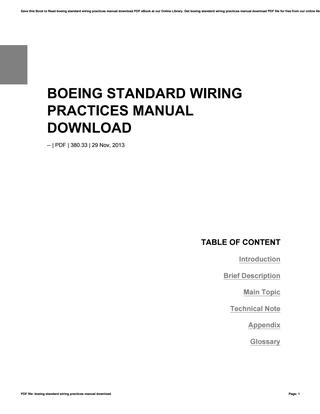 Super Boeing Standard Wiring Practices Manual Download By Lordsofts8 Issuu Wiring Cloud Onicaalyptbenolwigegmohammedshrineorg