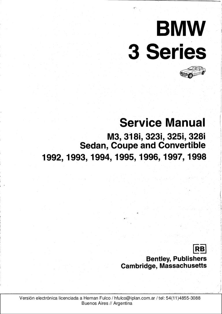 Surprising Bmw 3 E36 Series Workshop Manual Bentley Publishers Wiring Cloud Ittabisraaidewilluminateatxorg