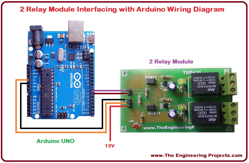 Terrific 2 Relay Module Interfacing With Arduino The Engineering Projects Wiring Cloud Cranvenetmohammedshrineorg