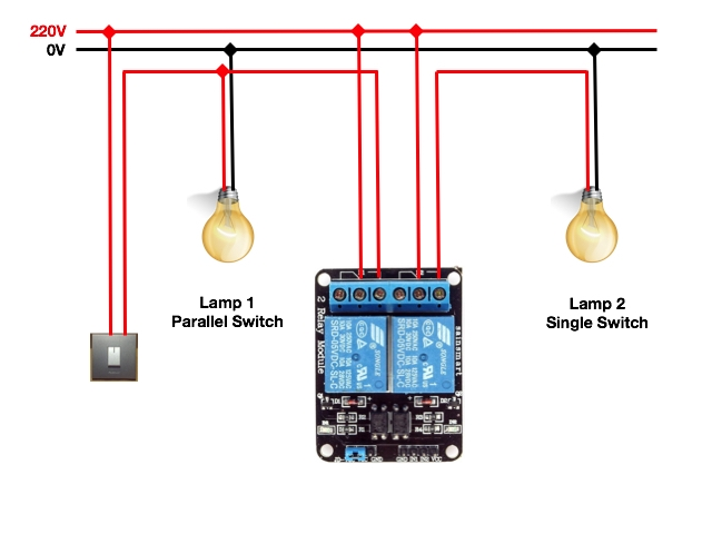 Sensational Arduino I2C Relay Boards Light Bulb And One Way Switch Wiring Cloud Genionhyedimohammedshrineorg