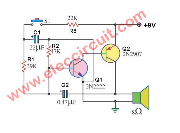Strange 3 Electronic Siren Circuits Using Transistors Eleccircuit Com Wiring Cloud Filiciilluminateatxorg