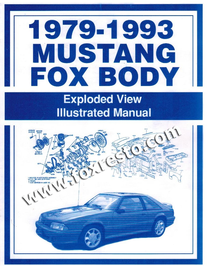 Enjoyable 1979 93 Ford Mustang Fox Body Exploded View Illustrated Manual Wiring Cloud Hisonepsysticxongrecoveryedborg