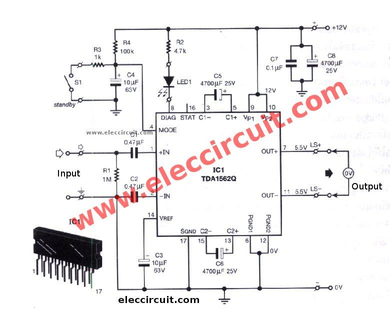 Excellent 12V Car Audio Amplifier Circuit 50W 65W With Pcb Eleccircuit Wiring Cloud Hemtshollocom