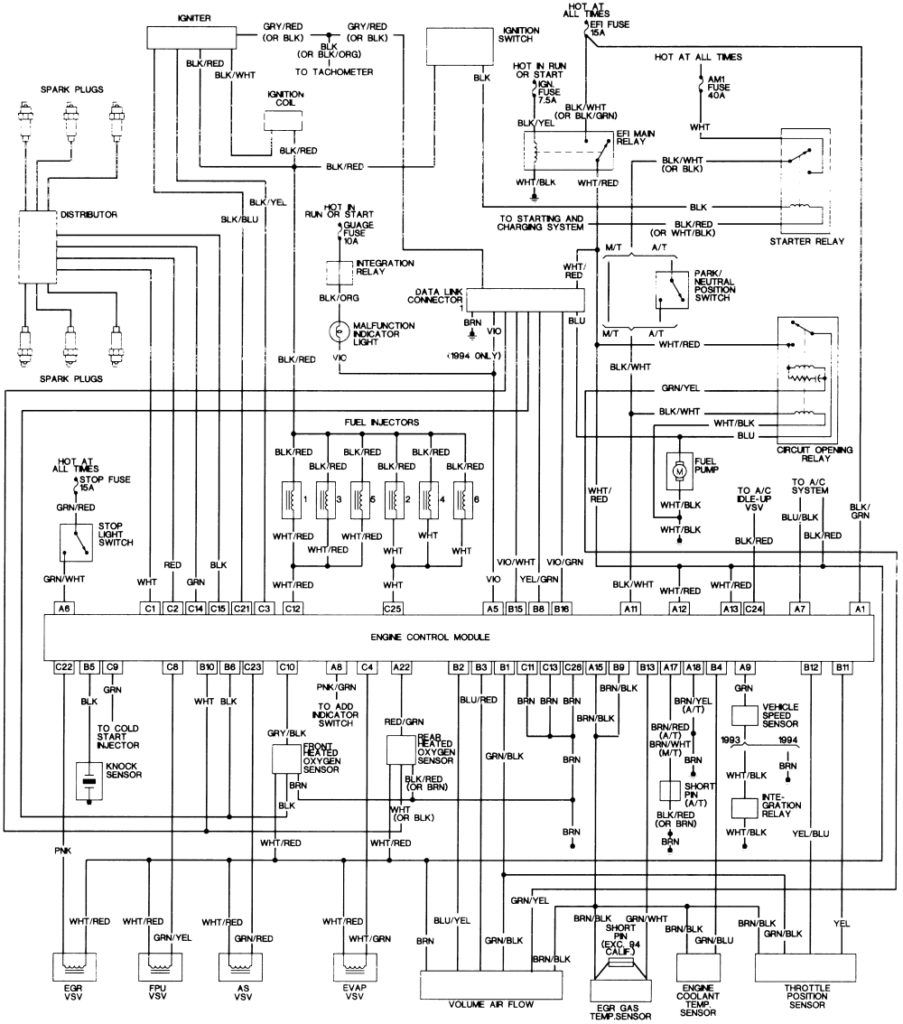 1994 Toyota Pickup Tail Lights Wiring Diagram