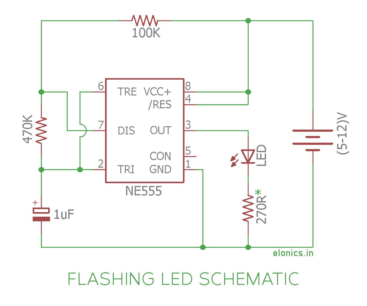 Admirable Flashing Led Circuit Diagram Wiring Diagram Tutorial Wiring Cloud Genionhyedimohammedshrineorg
