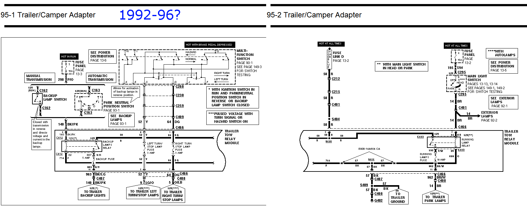ford l8000 lighting diagram hg 4815  86 ford f250 wiring diagram tow package wiring diagram  ford f250 wiring diagram tow package