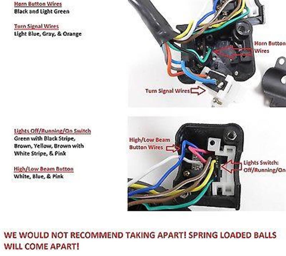 Sensational Handlebar Switch Headlight Horn Turn Signal 7 8 Honda Cb750 Cb900 Wiring Cloud Dulfrecoveryedborg