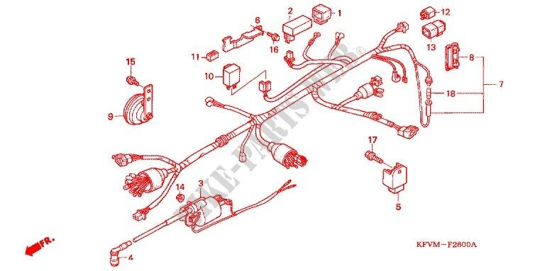 Fabulous Wire Harness Battery Frame C100M4 Ma 2004 C100 100 Moto Honda Wiring Cloud Rometaidewilluminateatxorg
