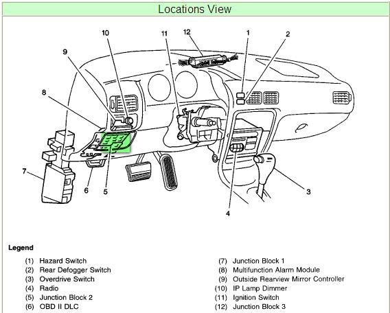 1998 Chevy Prizm Fuse Box Wiring Diagram Teach Teach Lechicchedimammavale It