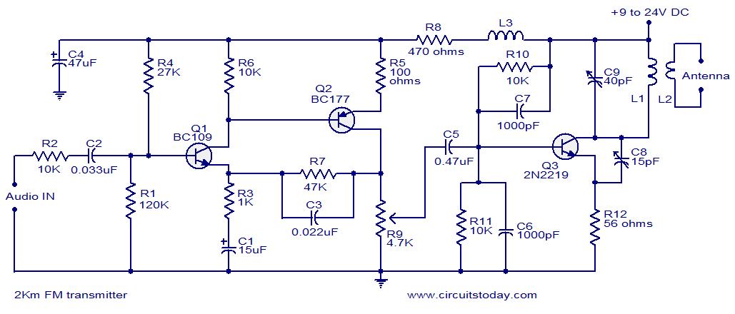 Super 2 Km Fm Transmitter Detailed Working With Circuit Diagram Wiring Cloud Genionhyedimohammedshrineorg