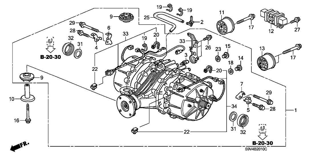 Awe Inspiring 2003 Honda Pilot 5 Door Lx Kl 5At Rear Differential Wiring Cloud Waroletkolfr09Org