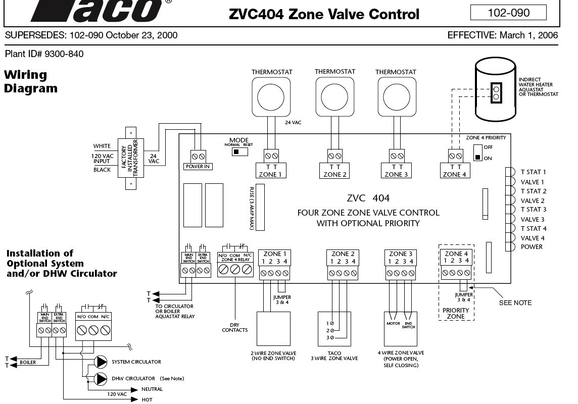 Taco 007 Wiring Diagram Schematic