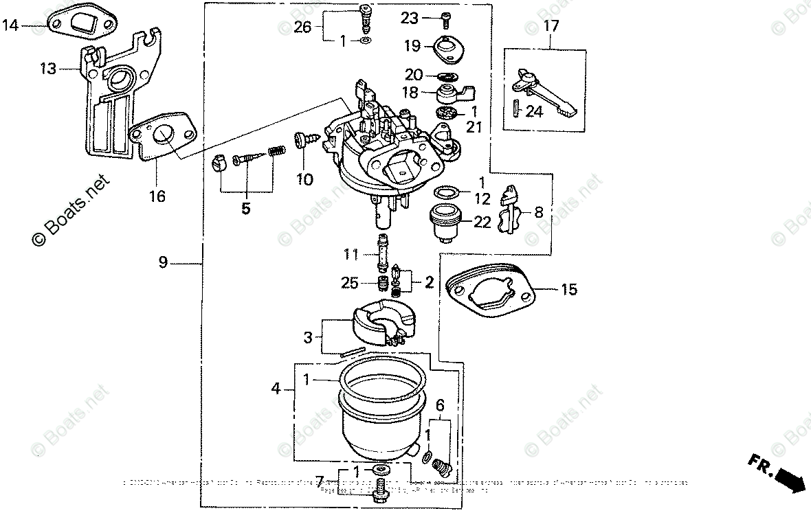Gx160 Honda Engine Parts List