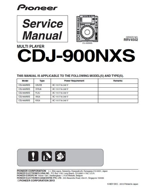 Marvelous Pioneer Cdj 900 Nxs Nexus Service Manual Download Manuals T Wiring Cloud Inklaidewilluminateatxorg