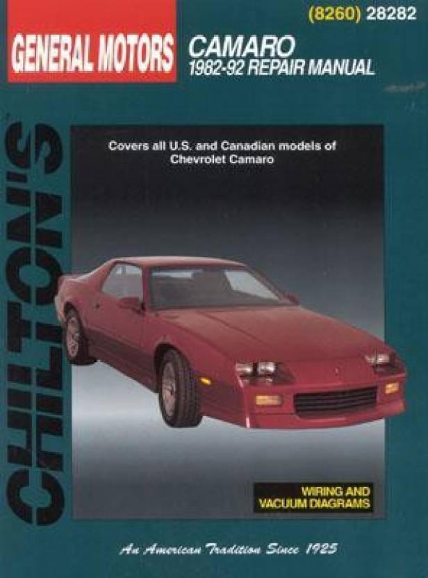 Chilton Repair Manual Chevrolet Camaro 1982-92 #28282 Auto Parts ...
