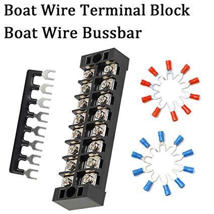 Fabulous Amazon Com Shangyuan Boat Wire Terminal Block Buss Bar For Wiring Cloud Itislusmarecoveryedborg