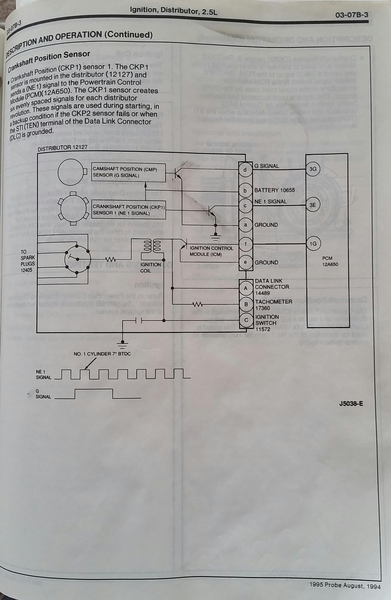 1994 ford probe engine diagram ys 3058  mazda mx6 distributor wiring diagram wiring diagram  mazda mx6 distributor wiring diagram