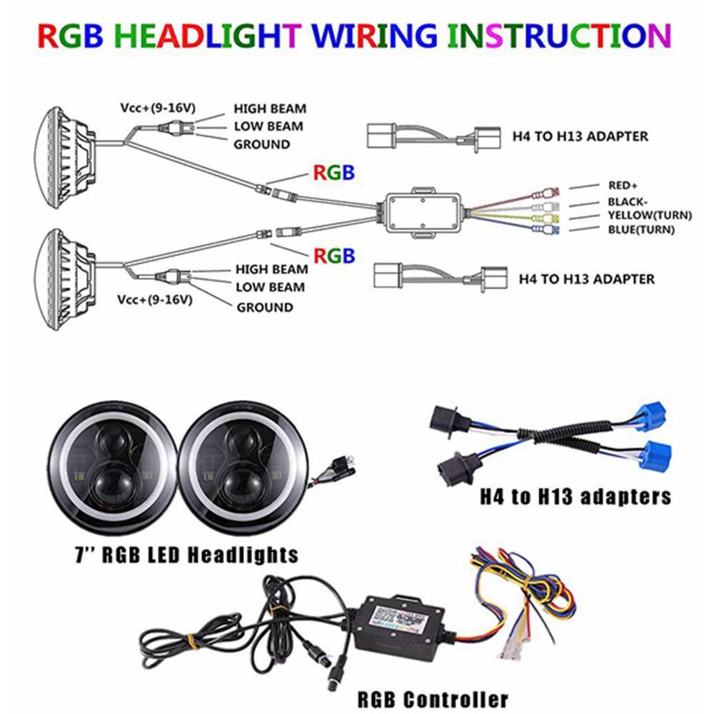 Wiring Diagram For Angel Eye Headlights
