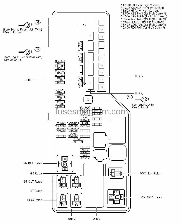 2000 Toyota Camry Window Wiring Diagram