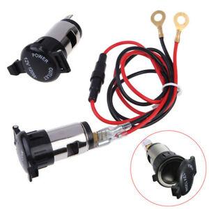 Super Car Motorcycle Cigarette Lighter Power Socket Plug Outlet Wire Ebay Wiring Cloud Licukshollocom