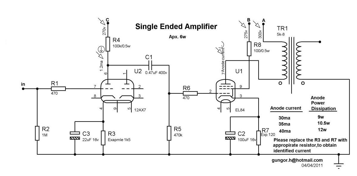 Sensational 6W Tube Amplifier Project Single Ended El84 6P43P Ecc83 Circuit Wiring Cloud Icalpermsplehendilmohammedshrineorg