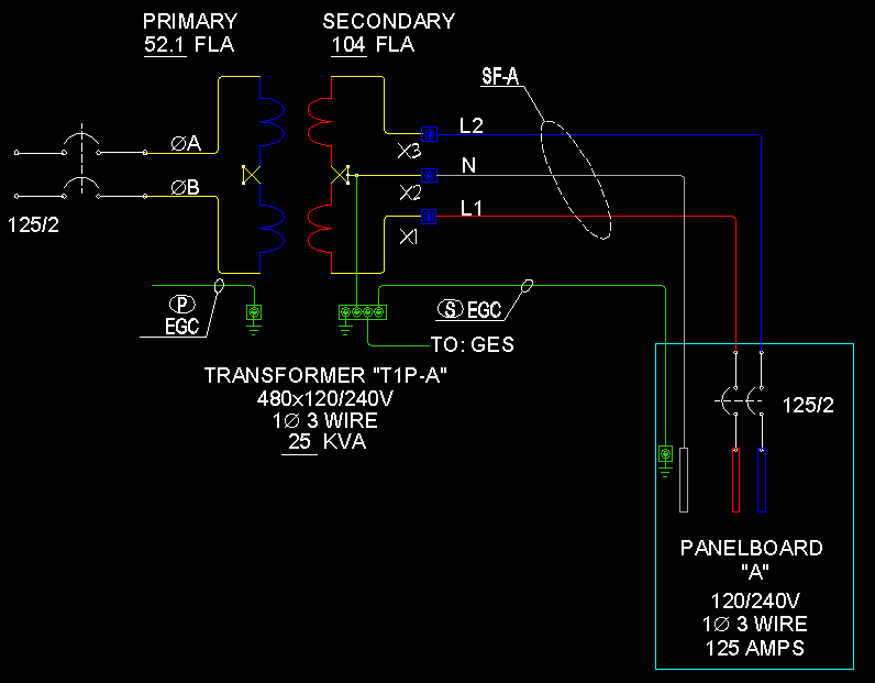 Ay 0922 480v To 240v Transformer Wiring Wiring Diagram